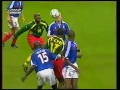 France Cameroun, patrick mboma marque un but légendaire