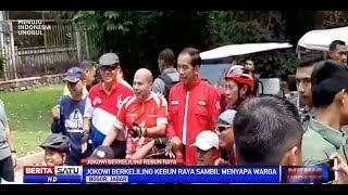 Jokowi Berolahraga di Kebun Raya Sembari Menyapa Warga