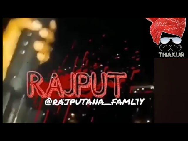 ????Rajput???? attitude status // Rajput ????whatsapp???? status // Rajputana ????song //Rajput  gun firing????