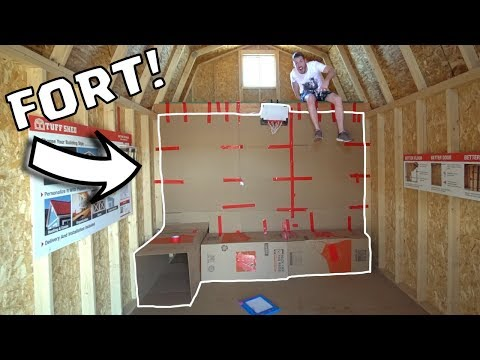 SHED BOX FORT TRICK SHOTS!