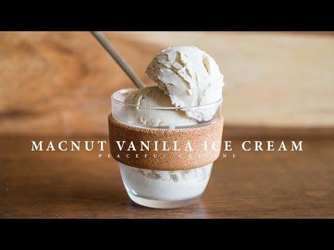 Macnut Vanilla Ice Cream (vegan) ☆ マカダミアナッツバニラアイスクリームの作り方
