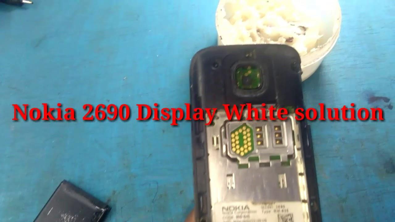 Nokia 2690 Display White solution
