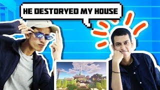 MY TWIN BROTHER DESTROYED MY MINECRAFT HOUSE 😔😭   FINESTLY