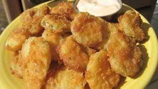 Spicy Fried Sliced Dill Pickles - How To Make Spicy Fried Sliced Dill Pickles Recipe