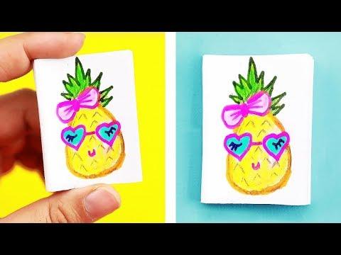 DIY Mini Pineapple Notebook - Easy & Cute Designs!