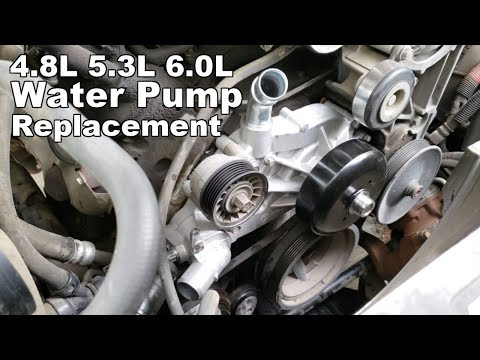 How To Replace Water Pump – Chevy Avalanche, GMC Sierra 4.8l 5.3l 6.0L