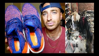 My house caught on fire & wrecked my sneaker collection + Mystery Ink Ultra Boost Review & On Feet