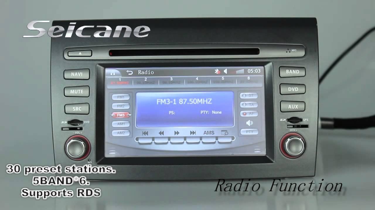fiat bravo radio stereo upgrade to aftermarket gps sat nav system rh youtube com Fiat Multipla Fiat Punto