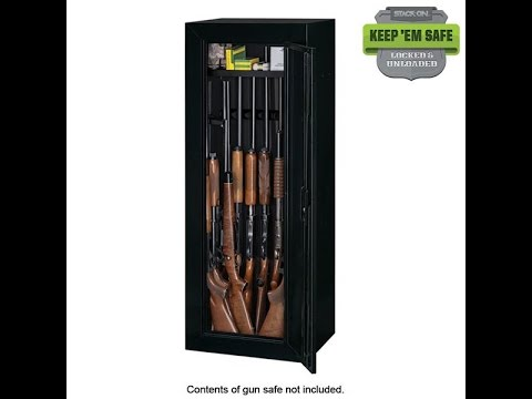 Stack on 14 gun cabinet/safe review - YouTube