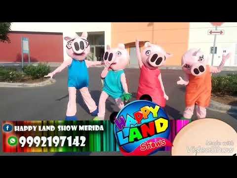 H.l show infantil Mérida happy land pepa pig