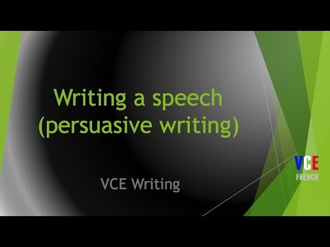 persuasive speech vce An overview of the vce persuasive oral presentation task, covering issue  selection, tone, structure and delivery.