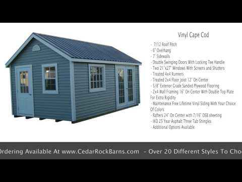 Vinyl Cape Cod Portable Building