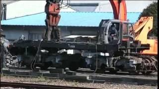 東武鉄道 電気機関車解体シーン