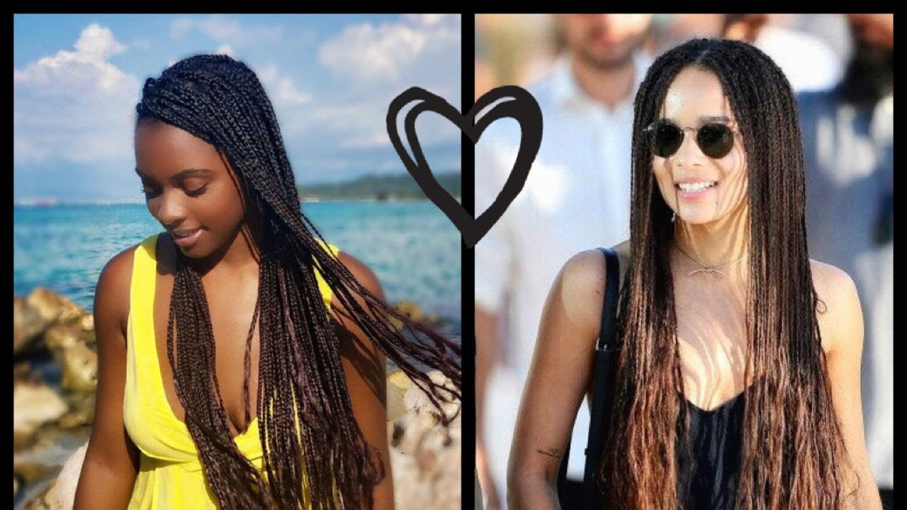 zoe kravitz inspired ombre braids youtube