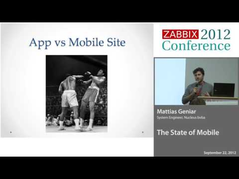 "Zabbix: Presenting the ""Mobile Zabbix"" web application (2012)"