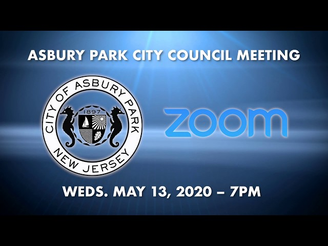 How-to join Asbury Park City Council Meeting May 13, 2020