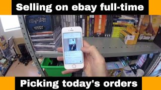 Selling on ebay UK as a full time job - Picking orders