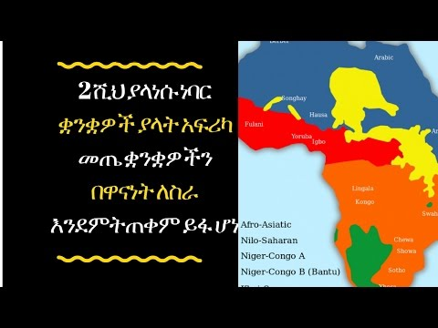 ETHIOPIA - How can African languages be protected