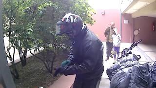 Rio gallegos de moto saindo da casa do nosso amigo Daniel