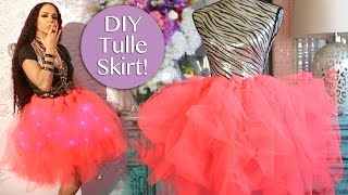 Gambar cover DIY Tulle Skirt No Sew ! Easy DIY Tulle Skirt