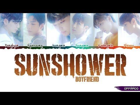 BOYFRIEND (보이프렌드) - 'Sunshower (여우비)' Lyrics (Color Coded Han-Rom-Eng CC)