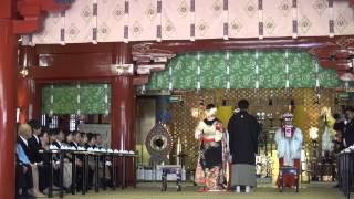 Традиционная японская свадьба в храме Асакуса / Traditional Japanese Wedding at Asakusa Tokyo