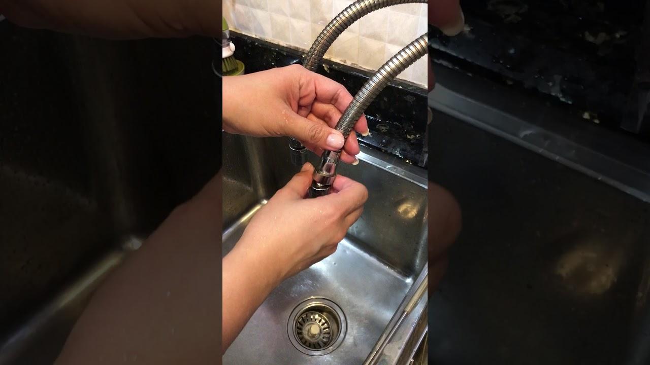 Turbo flex flexible faucet sprayer - YouTube