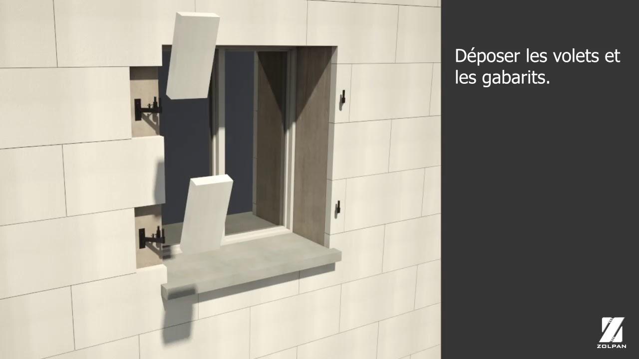 Pose De Gonds De Volets se rapportant à comment déporter des gonds de volets existants? - youtube