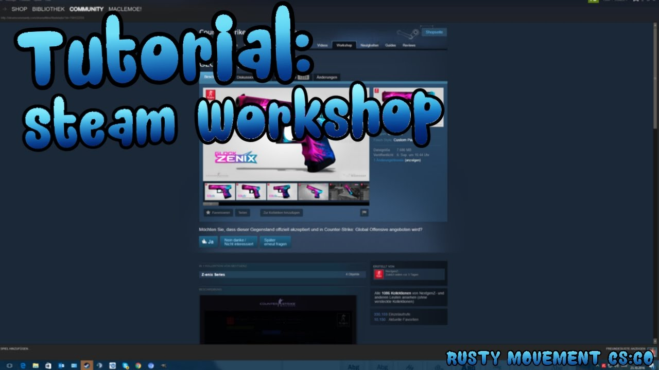 Steam Workshop Tutorial [german, 1080p]