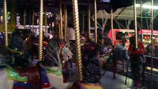 Classic Antique Carousel Ride At The Nellie Bly Amusement Park In Brooklyn New York