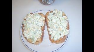 Гренки с салатом на завтрак Маринкины творинки