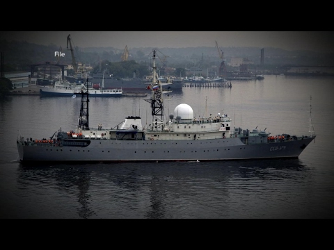 President Trump questioned about Russian spy ship