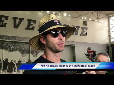 Texas Tech football coach Kliff Kingsbury provides an update on defensive back Octavious Morgan
