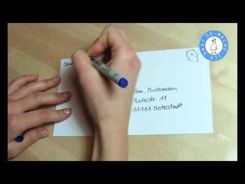 Kuvert Umschlag Richtig Beschriften Brief Beschriften Youtube