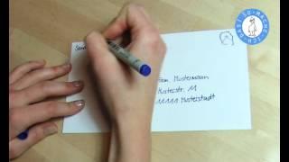 Kuvert / Umschlag richtig beschriften - Brief beschriften
