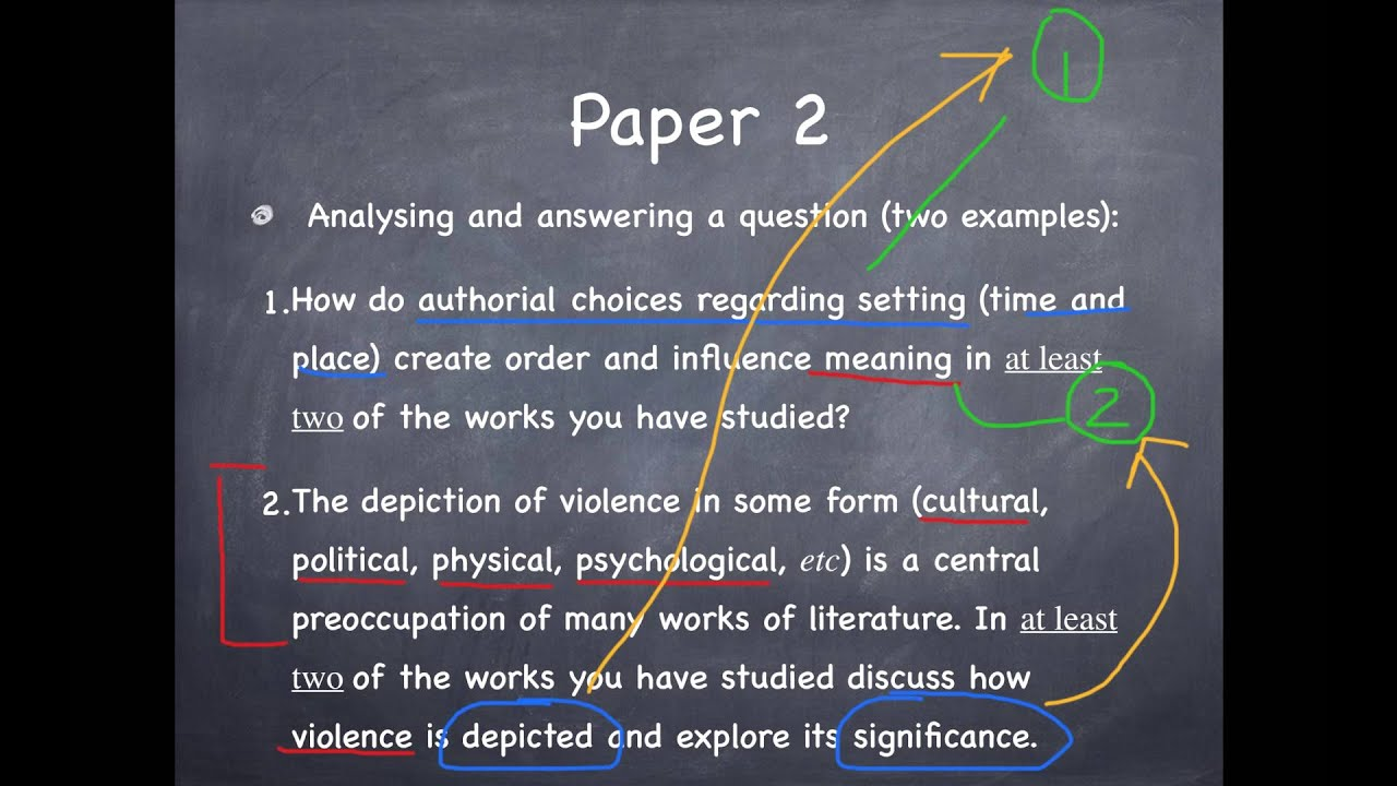 Ib english literature paper 2 past papers