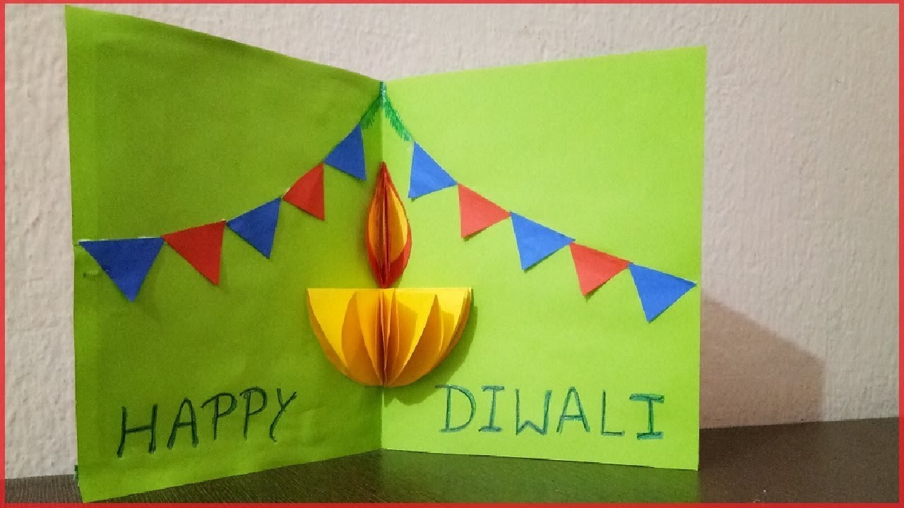 Diwali Pop Up Card Making For Kids Easy How To Youtube