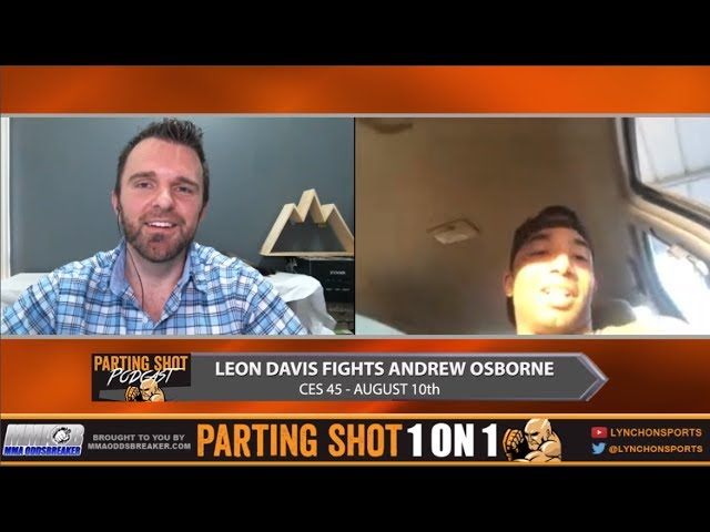 CES 45's Leon Davis explains how he fought & attended a Wedding during his last fight