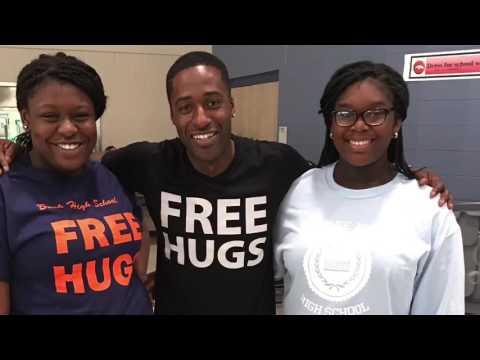 Free Hugs Project at George Bush High School
