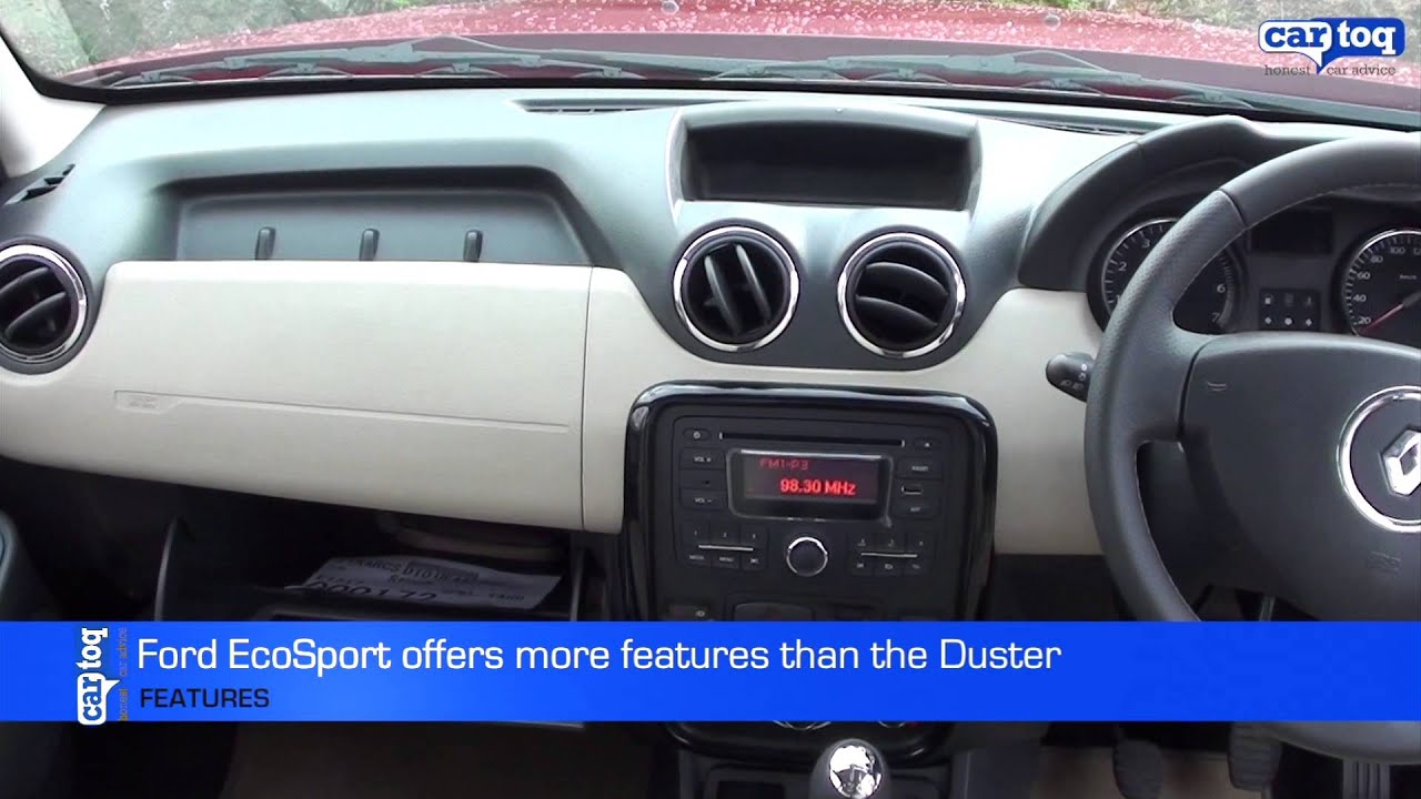Ford EcoSport V S Renault Duster Video Comparison By CarToq