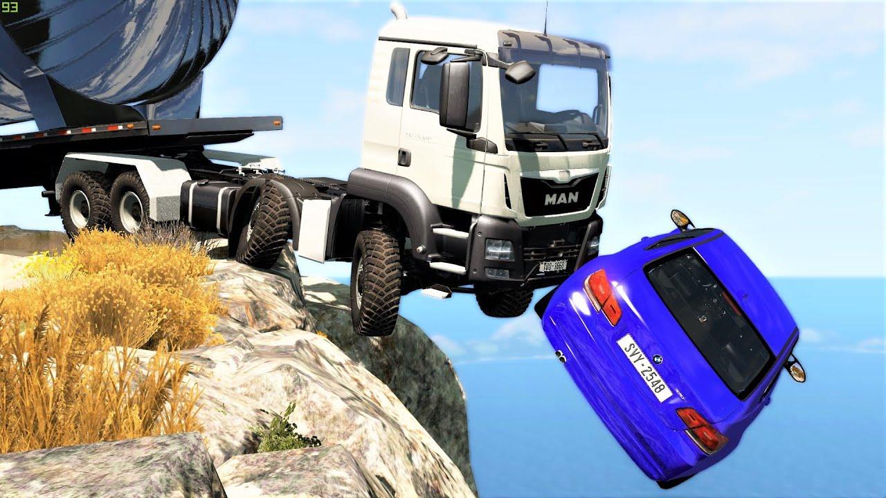 Cliff Drops & Crashes #10 - BeamNG Drive | CRASHdriven
