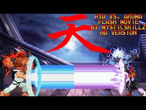 Ryu vs. Akuma - Full animation movie by mysticskillz