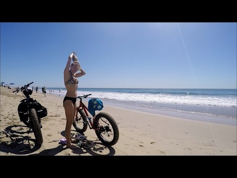 Courtney On A Fat Bike At Huntington Beach, CA (Mukluk And Me 11)