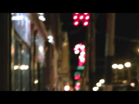 Christmas Lights Down on Charlotte Street