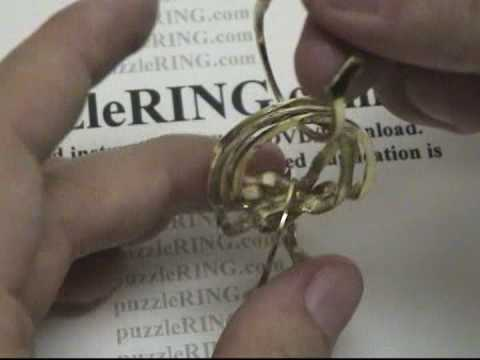 Puzzle Ring Solution for 6 Band REGULAR Puzzle Rings 6B141