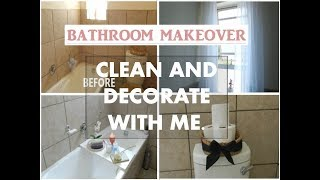 NEW!! CLEAN AND DECORATE  WITH ME | BATHROOM MAKEOVER | ON A BUDGET 2018