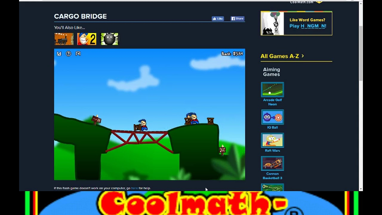 cool math games lets play cargo bridge youtube. Black Bedroom Furniture Sets. Home Design Ideas