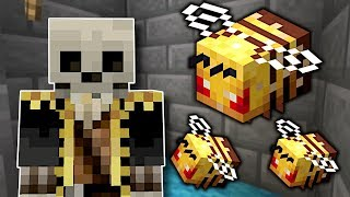 PUTTING BEES IN MY FRIEND'S BASE! - Minecraft Multiplayer Gameplay