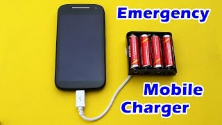 How to Make an Emergency Mobile Phone Charger using AA Batteries(In this video tutorials, I show how to make an emergency charger for Mobile Phones using AA Batteries. Thank you for Watching. Subscribe to our How-to-Raju ..., 2016-05-22T08:14:32.000Z)