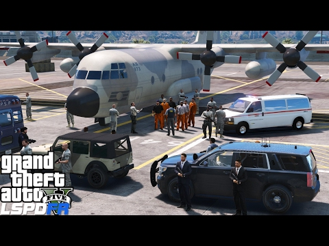 GTA 5 LSPDFR Police Mod 363 | San Andreas Department Of Corrections Transporting High Level Prisoner